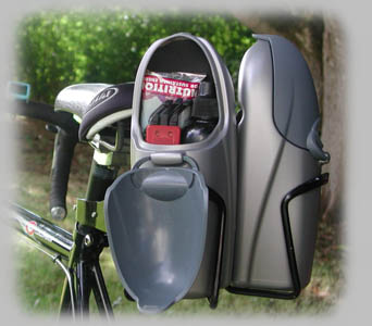Cage Rocket dual cages on seat post & Cage Rocket - Classic SPod